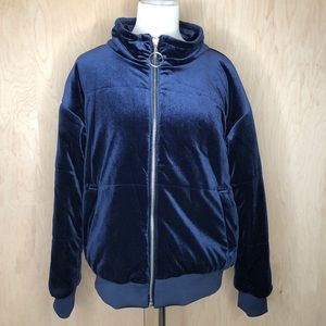 Mossimo Blue Velvet Jacket